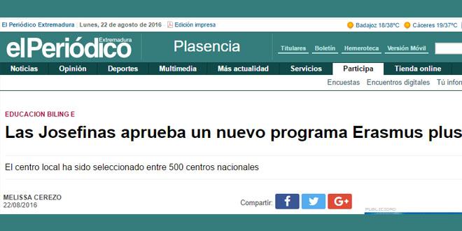 Las Josefinas aprueba un nuevo programa Erasmus plus